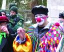 Eine kleine, aber feine Clowns-Armee war es, die bei der Demonstration am Samstag für entspannte Stimmung sorgte.