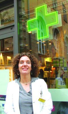 Sonja Karl war Vorreiterin mit dem grünen Kreuz. Foto: Lang
