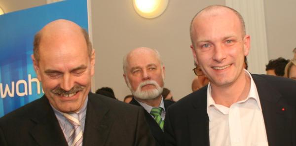 Offenbar stimmt die Chemie: Hans Schaidinger, Joachim Wolbergs.