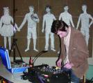 DJ moon:patrol brachte Elector-Indie-Pop ins Kunstforum Ostdeutsche Galerie.Foto: Lang