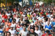7.344 waren bei der 18. Auflage des Regensburg Marathon unterwegs. 120 Starter weniger als bei der Premiere 1990.                Foto: gsrd