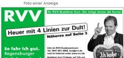 """""""Der kriegt immer die Kurve."""" Mit seiner Anzeigen-Kampagne für den Dultbus beweist der RVV Sinn für Humor"""