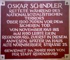Gedenktadel für Oskar Schindler Am Watmarkt 5.