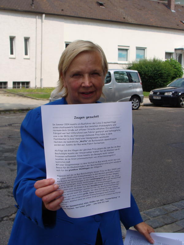 "Dr. Doris Simon: ""Wahnhafte Umdeutung der Realität durch den Gutachter."" Fotos: Aigner"