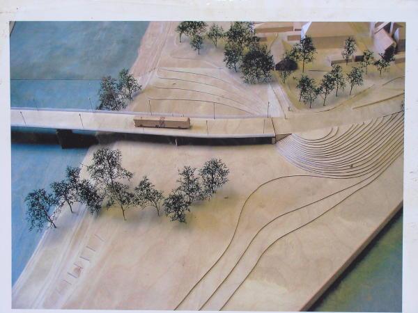 Städtisches Modell für eine Brücke über den Gries.