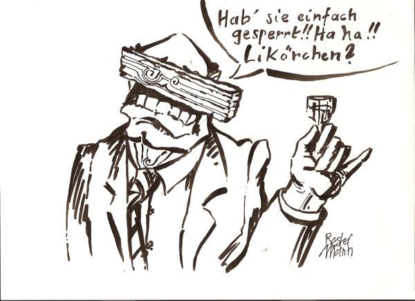 Karikatur: Restelmann