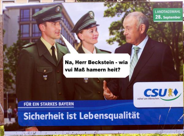Endspurt im Wahlkampf. Gefunden von Uli Wittmann