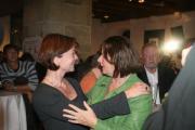 Fahrgemeinschaft nach München? Margit Wild (li.) und Maria Scharfenberg. Foto: Staudinger
