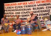 Vor der Vorstellung: Die Regensburger Trommlergruppe Afritat. Foto: Aigner
