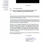 29. Juni: Auf Anfrag von Lutz Tittel erklärt Francesco Bandarin ICOMOS habe die Umbaupläne \