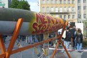 Aktionstag von Handicap International am 6. Oktober in München zum Verbot von Streumunition. Foto: Handicap International