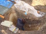 Im römischen Brunnenschacht ...