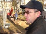 Auf der Suche nach dem jüdischen Friedhof: Dr. Lutz Dallmeier.