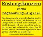 Rüstungskonzern contra regensburg-digital.de