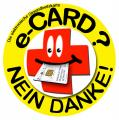"""Logo der Initiative gegen die Einführung der """"Gesundheitskarte""""."""