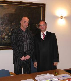 Thomas Bockel und Rechtsanwalt Dr. Thomas Troidl. Foto: Stöckel