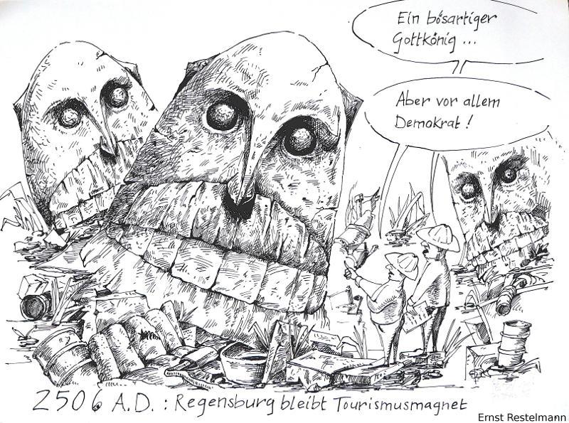 Karikatur: Ernst Restelmann