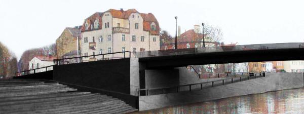 Fotomontage: Blick auf die Westtrasse.