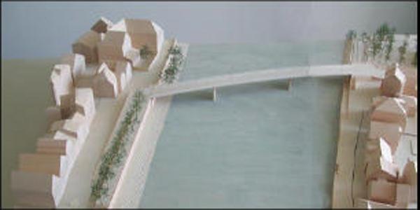 Sieht so die Westtrasse aus? Ein Modell der Stadt Regensburg.