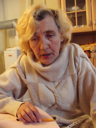Iraida Gudkevič wurde 1944 zusammen mit ihrer Mutter nach Regensburg verschleppt. Fotos: Hana Pfalzova