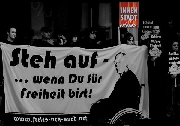 """Rassistische Schleimspur: Das """"Aktionsbündnis Cham"""". Foto: Jan Nowak"""
