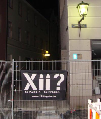"""Vergangenes Wochenende: Transparent zum """"Fall Eisenberg"""" in der Regensburger Altstadt. Fotos: Aigner"""