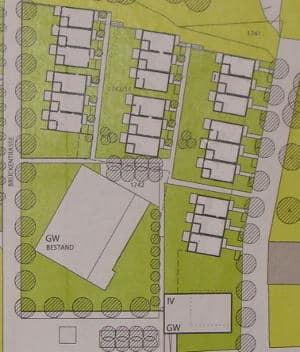 Mit diesem Plan (verfremdeter Ausriss) wurden 21 Häuser um Unteren Wöhrd bereits seit 2008 vom Immobilienzentrum vermarktet.