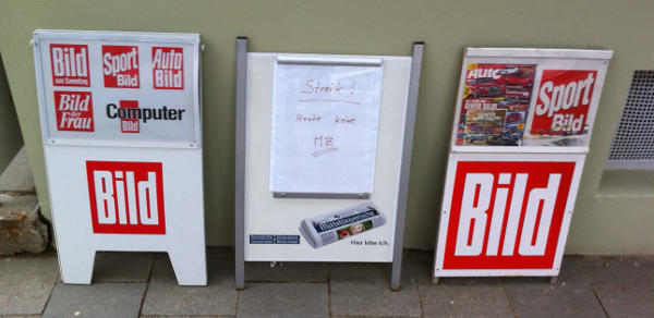 2011 legte ein Druckerstreik die MZ noch lahm. Dank Auslagerung und Union Busting gehören solche Bilder der Vergangenheit an. Foto: Archiv
