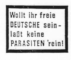 """Bei Brandt in Regensburg gefundene Briefaufkleber: """"Schriftstücke möglicherweise rechtsextremistischer Provenienz"""", meinte seinerzeit das Regensburger Amtsgericht und verurteilte zwei Antifaschisten wegen übler Nachrede."""