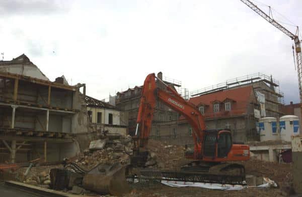 Tabula Rasa: Am Donaumarkt wird für das neue Museum aufgeräumt. Foto: as