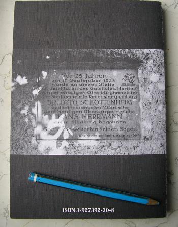 Gedenktafel, die für Otto Schottenheim