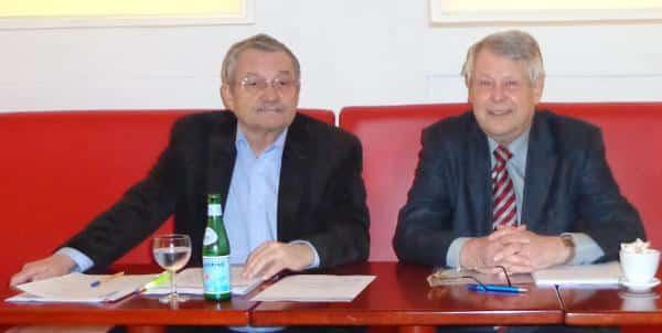 Kurt Schindler und Horst Eifler: Die Vorstände des Mieterbunds fordern eine Offenlegung der Mieterhöhungen seit März. Foto: Archiv
