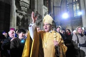 Viele setzten große Hoffnungen in Bischof Voderholzer. Foto: Archiv/ Staudinger