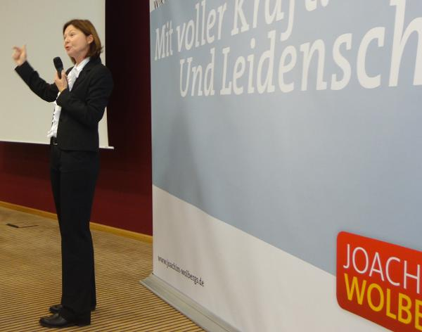 """""""Du kannst es."""" Margit Wild über Wolbergs."""