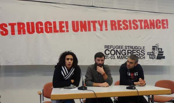 Protestieren seit fast einem Jahr: Houmer Hedayatzadeh, Mohammad Kalali und Arash Dust Hossein (hier bei der Abschlusspressekonferenz, v.l.).