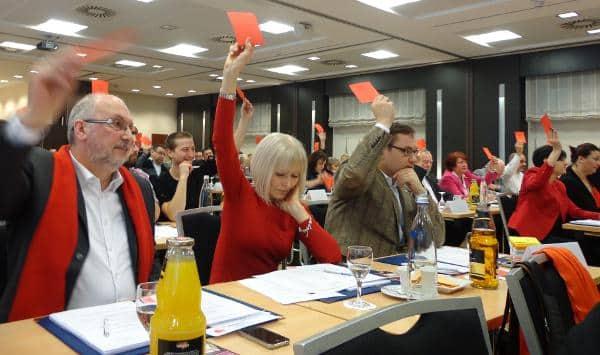 Keine Überraschungen. Die 72 Delegierten zeigten sich bei der Aufstellung der Stadtratsliste.... geschlossen. Fotos: as