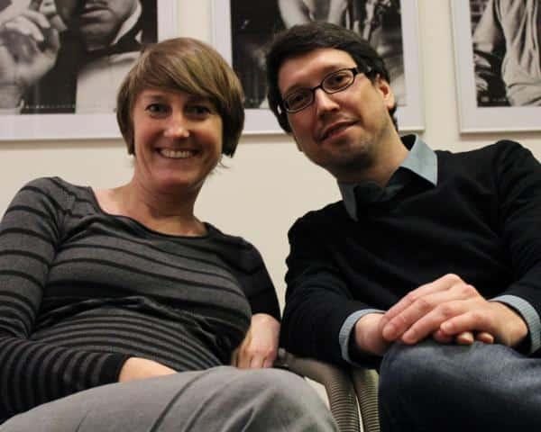 Festivalleiterin Insa Wiese (mit Mitorganisator Philipp Weber).  Foto: pm