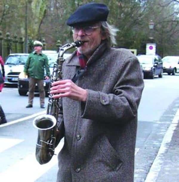 Bei Demos oft an der Spitze samt Saxophon dabei: Uli Teichmann.