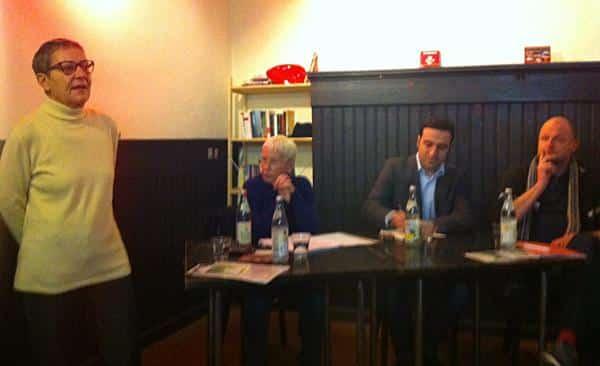 Die VVN-Vorsitzende Luise Gutmann (li.) hatte Narin ins L.E.D.E.R.E.R. eingeladen.