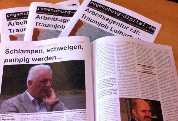 Diskussionsgrundlage für den Workshop von Regensburg Digital am Samstag: Eine gedruckte Auswahl der letzten Monate.