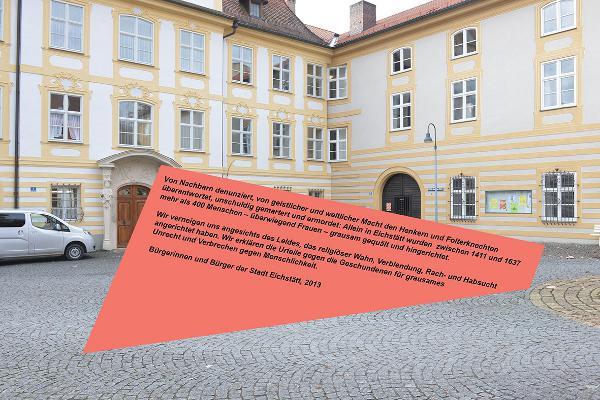 Vorschlag von Wolfram Kastner für einen Gedenkstein vor der Universität Eichstätt.