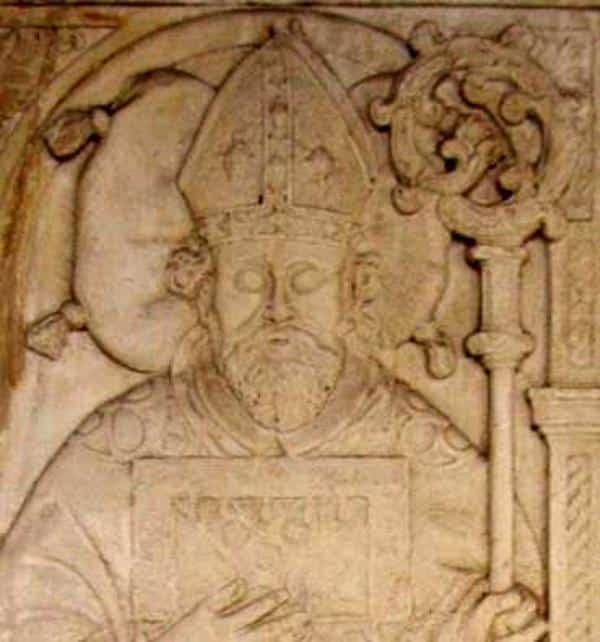 Fürstbischof Westerstetten auf seiner Grabplatte im Eichstätter Domkreuzgang. Foto: Wikipedia