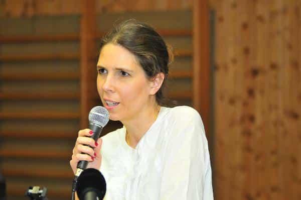 Schlug Franz Rieger vor, ist jetzt Delegierte für den Bezirksparteitag: Alexandra Glufke-Böhm. Foto: Staudinger