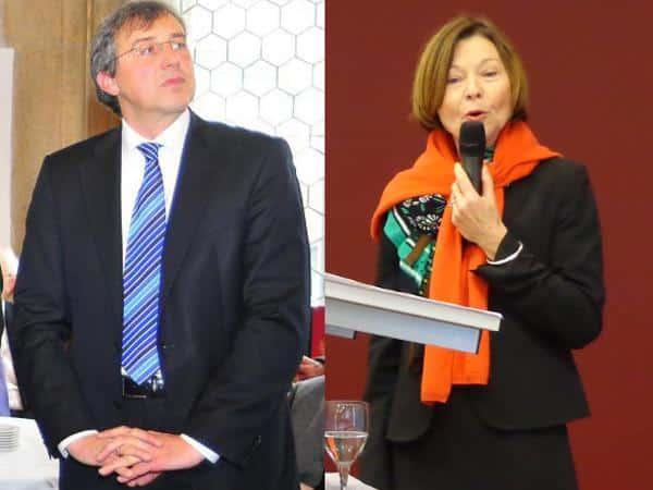 """Zwei Parteivorsitzende, zwei """"Strategien"""": Franz Rieger und Margit Wild. Foto: Archiv"""