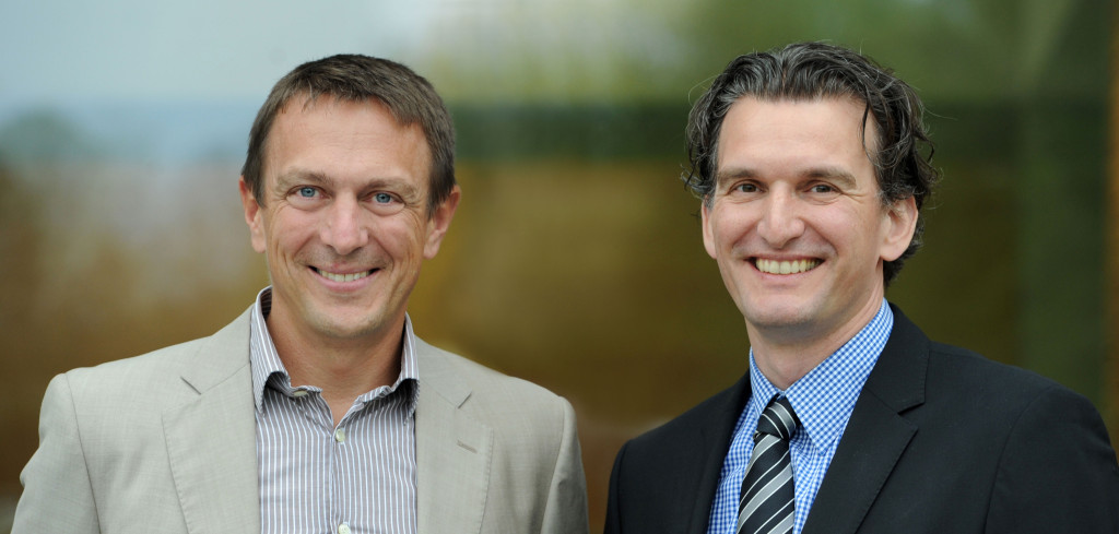 Prof. Dr. Sven Bienert und Prof. Dr. Steffen Sebastian (Foto: IREBS)