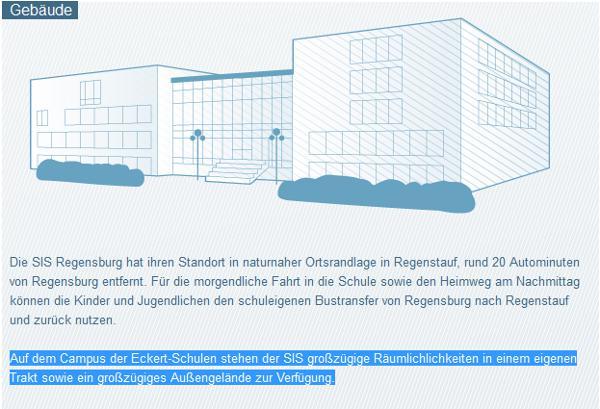 """""""Großzügige Räumlichkeiten"""" der SIS bei Eckert Regenstauf. Welche Kosten bleiben an wem dafür hängen?"""