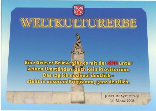 """Postkarte von Stadtrat Hubert Lankes aka """"Kulturreverrat Regensburg"""", von Christian Schlegl ohne Quellenverweis als """"satirische Postkarte"""" an die Medien verschickt."""