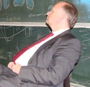 Fährt bislang eine harte Linie bei befristet Beschäftigten: Kanzler Dr. Christian Blomeyer. Foto: Archiv