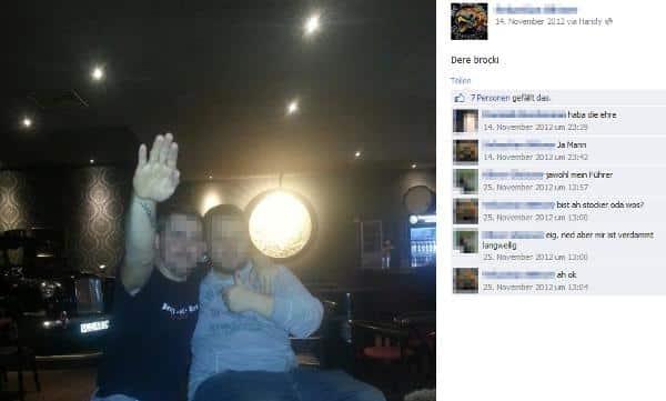 Hitler-Gruß für die Facebook-Freunde: Der Motorradrocker Sebastian B..