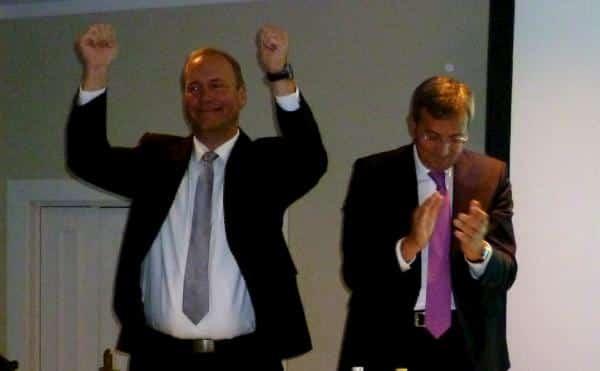 Einst Erzfeinde, jetzt stabil und geschlossen: Christian Schlegl und Franz Rieger. Fotos: as